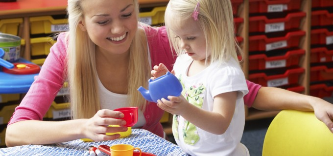 Little Girl Learning