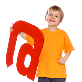 Child with the at Symbol